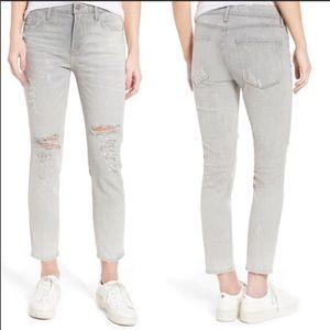 AGOLDE Sophie High Waist Grey Skinny Jeans